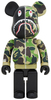 1000% Full Green Camo Shark Be@rbrick