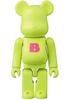 Basic Be@rbrick - Lime Green 'B'