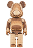 400% Layered Carved Be@rbrick (wood)