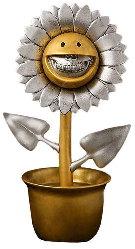 Gold__silver_shocking_sunflower_silver_grin-ron_english-shocking_sunflower-made_by_monsters-trampt-293599m