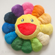 Rainbow Large Flower Cushion 24 inch