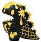Black & Gold Ice Cream Little Dino (flabslab)