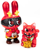 Red Dorobanii + Maneki Wananeko Set