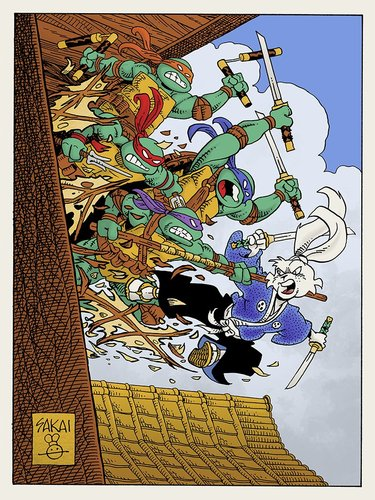 Usagi_yojimbo_vs_the_turtles-stan_sakai-screenprint-trampt-296897m