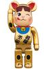 400% Milky Peko-chan Gold Beckoning Cat