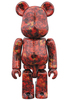 100% Leather Rose Be@rbrick