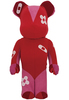 1000% Red/Pink Be@rbrick