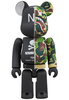 100% Neighborhood X Bape Camo Shark Be@rbrick