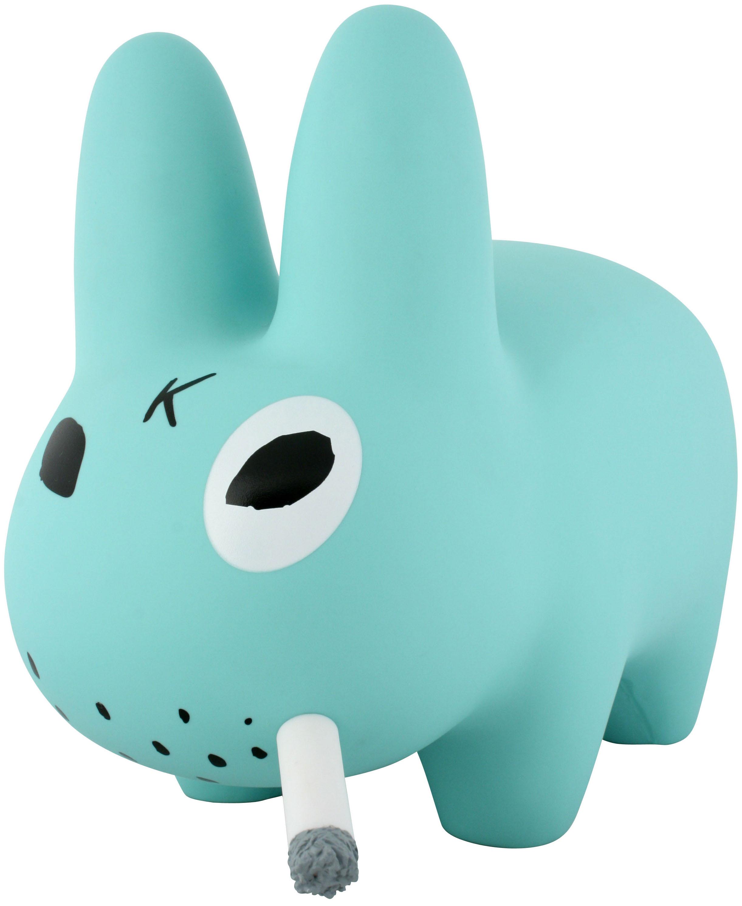 "Kidrobot 10/"" Clear Blue Smorkin Labbit Vinyl Figure Toy Frank Kozik New"