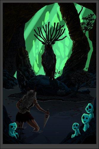 Pool_of_the_forest_god__gid_variant_princess_mononoke-tim_doyle-screenprint-trampt-301798m