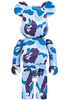 1000% Blue ABC Camo Be@rbrick