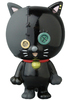Black Dancing Button Cat