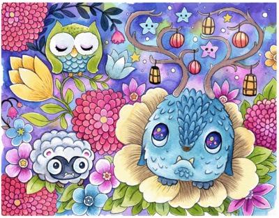 Twilight_friends-jeremiah_ketner-watercolor-trampt-303155m