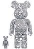 100% + 400% Keith Haring #4 Be@rbrick (Set)