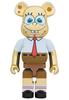1000% Gold Chrome Spongebob Squarepants Be@rbrick