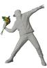 White Gesso Flower Bomber