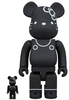 100% + 400% 45th Anniversary Black Hello Kitty Be@rbrick (Set)