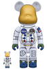 100% + 400% Apollo 11 Astronaut : 50th Anniversary Be@rbrick