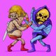 Old He-Man vs. Old Skeletor
