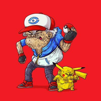 Old_ash__old_pikachu-alex_solis-gicle_art_print-trampt-305522m