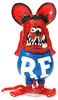 Clear Red Rat Fink