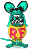 Clear Green Rat Fink
