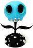 "5"" Blue Glow Skull Flower (Dcon '19)"