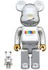 100% + 400% Chrome JSB Be@rbrick (Set)