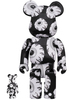 100% + 400% Monochromatic Mishka Be@rbrick (NTWRK Exclusive)