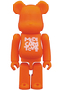 Orange Basic Be@rbrick 'Medicom Toy'