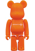 Orange Basic Be@rbrick 'Medicom Toy Plus'