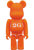 Orange Basic Be@rbrick '2G'