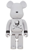 1000% White Chrome Mastermind Japan Be@rbrick
