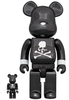 100% + 400% Black Chrome Mastermind Japan Be@rbrick (Set)