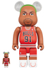 100% + 400% Dennis Rodman Chicago Bulls Be@rbrick (Set)