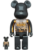 100% + 400% Innersect Black & Gold Be@rbrick B@by
