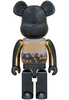 1000% Innersect Black & Gold Be@rbrick B@by