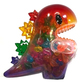 Rainbow Big Dino with Micro Dino Guts