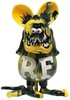 Yellow and Black Marble Rat Fink