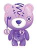 Lavender Raggedy Teddy