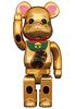 400% Luminance Gold Plated Maneki Neko Be@rbrick