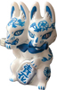 BLUE AND WHITE PORCELAIN TWO-HEADED FOX