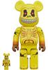 100% + 400% Yellow Skull Face : Madballs (Set)