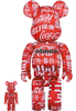 100% + 400% Atmos x Clear Red Coca-Cola Be@rbrick (Set)