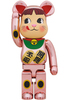 1000% Peach Gold Plated Peko-chan Maneki Neko