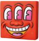 Orange Three Eyed Smiling Face Mini VCD