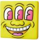 Yellow Three Eye Smiling Face Mini VCD