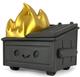 Black & Gold Dumpster Fire (Kidrobot Exclusive)