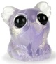 Clear Purple Swirl Carnival Glass Smidgen