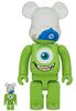 100% + 400% Mike : Monsters Inc. Bearbrick (Set)